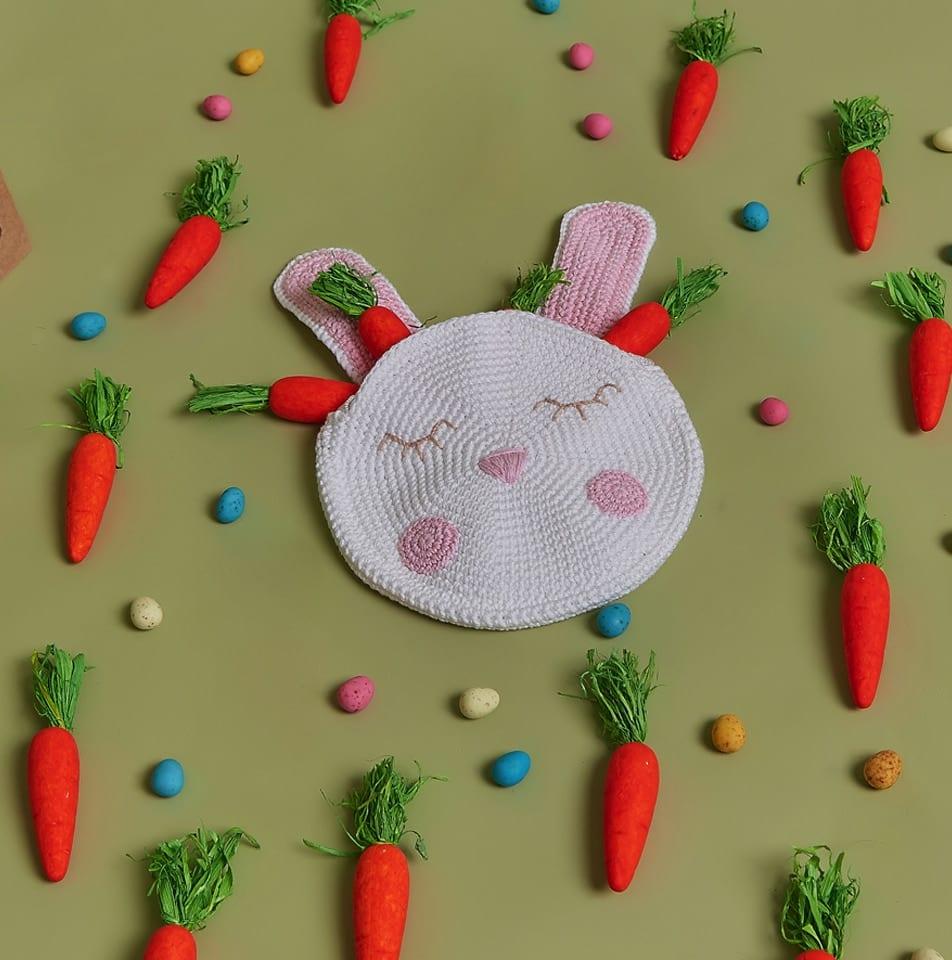 bolsa infantil de crochê coelho