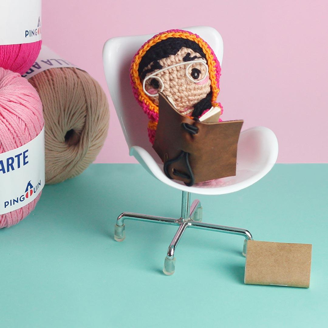 boneca de crochê bella arte