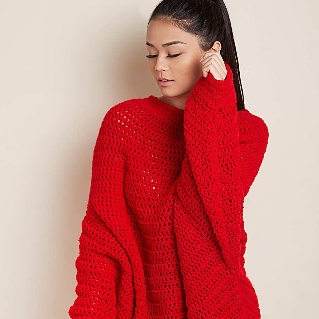 Blusa Vermelha com Gola Ampla – FLASH