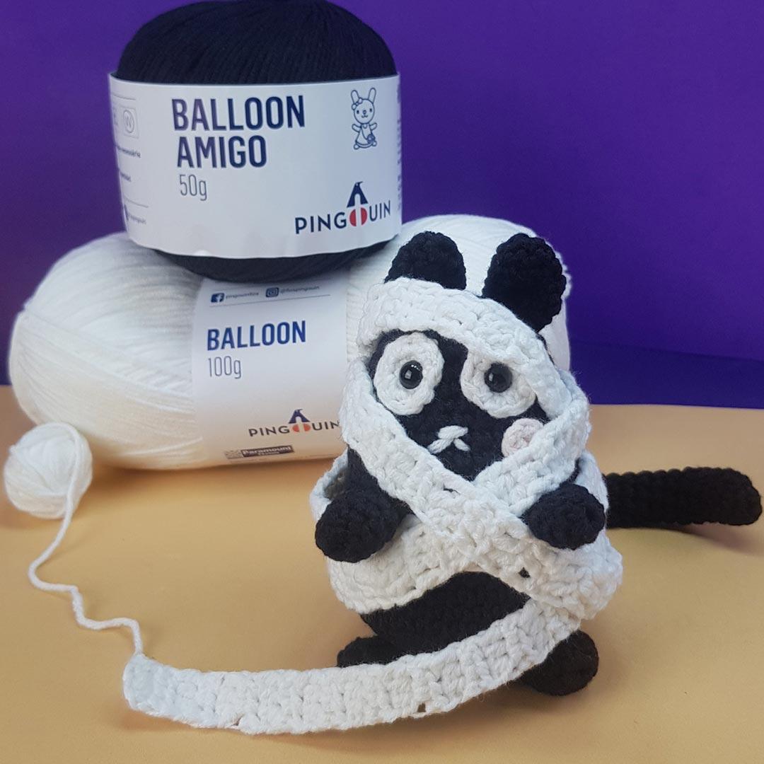 Amigurumi Gato Halloween – Fio Balloon Amigo