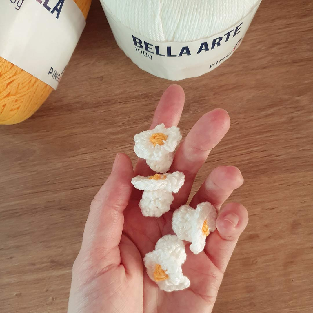 Pipoca de crochê – Fio Bella Arte