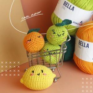 limão de crochê