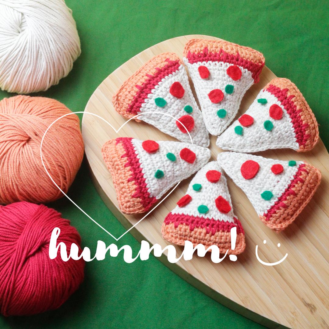 pizza de crochê